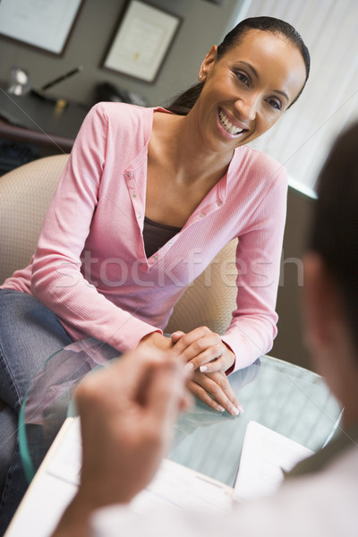 Woman having consultation with doctor in IVF clinic Stock photo © monkey_business