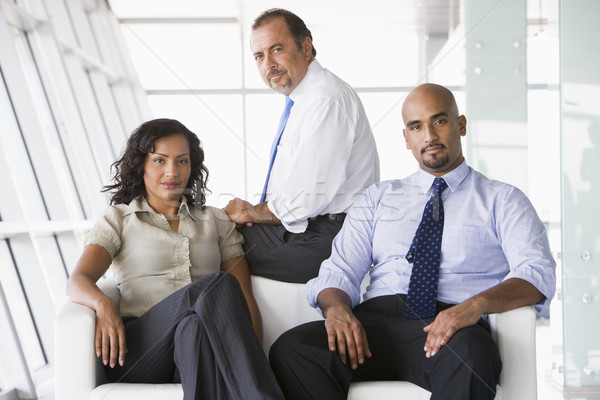 Group of businesspeople in lobby Stock photo © monkey_business