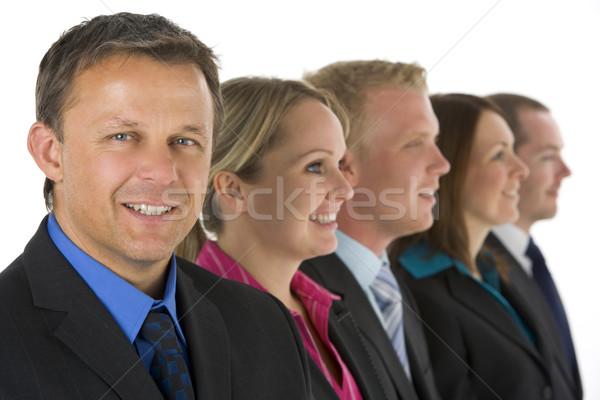 Zdjęcia stock: Grupy · ludzi · biznesu · line · uśmiechnięty · działalności · mężczyzn