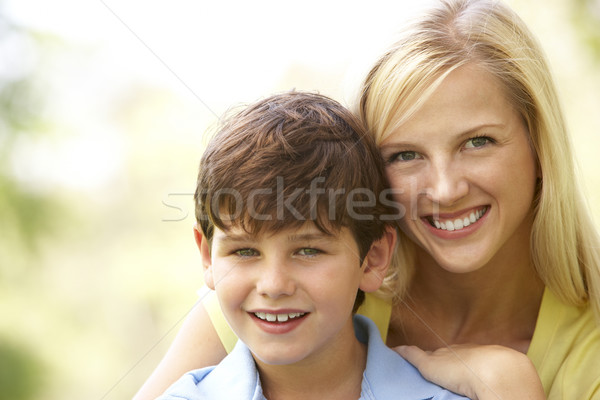 Portrait Of Mother And Son In Park Stock photo © monkey_business
