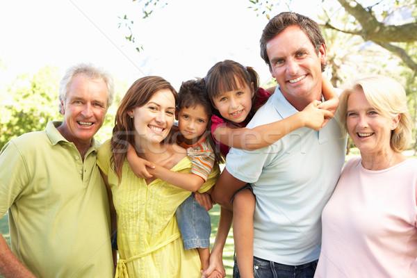 組 肖像 家庭 享受 天 公園 商業照片 © monkey_business