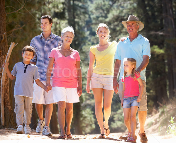 3 Generation family on country walk Stock photo © monkey_business
