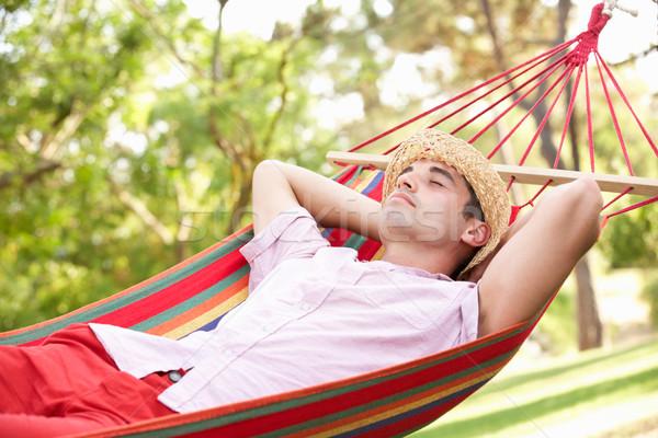 Man Relaxing In Hammock Stock photo © monkey_business