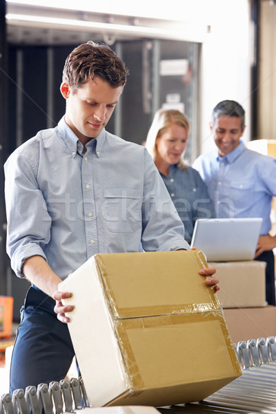 Workers In Distribution Warehouse Stock photo © monkey_business