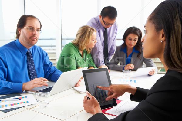 Geschäftsleute Sitzung Sitzungssaal Business Frau Frauen Stock foto © monkey_business