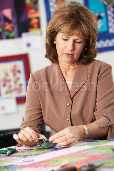 Woman Sewing Quilt Stock photo © monkey_business