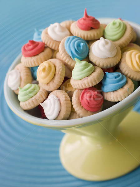 Dish of Iced Gem Biscuits Stock photo © monkey_business