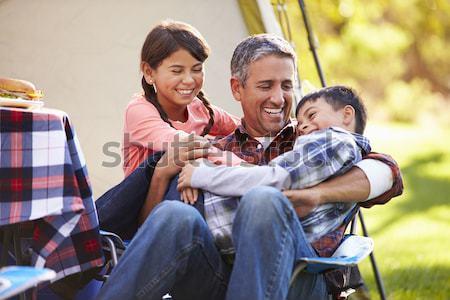 Homme extérieur souriant domaine Photo stock © monkey_business