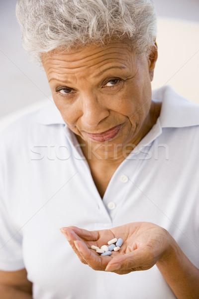 Сток-фото: женщину · таблетки · здоровья · медицина · больным