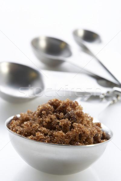 Azúcar moreno tazón cucharas color Foto stock © monkey_business