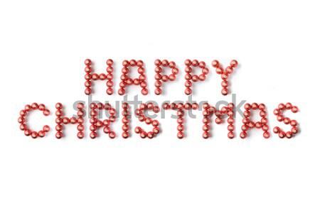 Рождества правописание счастливым красный белый письме Сток-фото © monkey_business