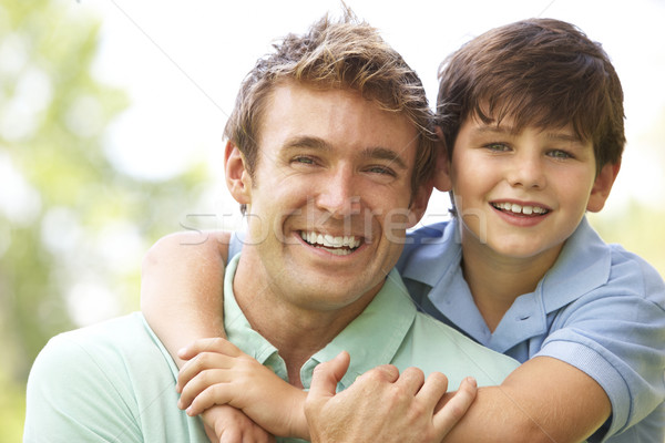 Portrait Of Father And Son In Park Stock photo © monkey_business