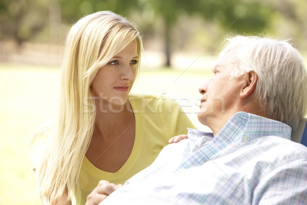 Senior Man Talking To Concerned Adult Daughter Stock photo © monkey_business