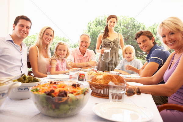 A family, with parents, children and grandparents, enjoy a picni Stock photo © monkey_business
