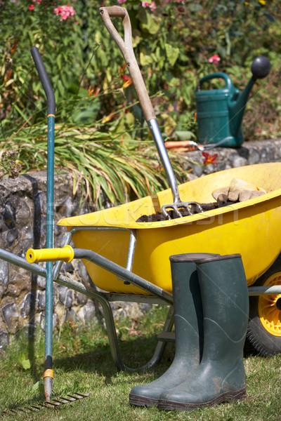 Kerti eszközök kellékek kert dolgozik villa életstílus Stock fotó © monkey_business