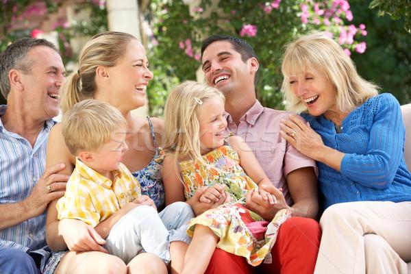 Sessão sofá juntos crianças mulheres Foto stock © monkey_business