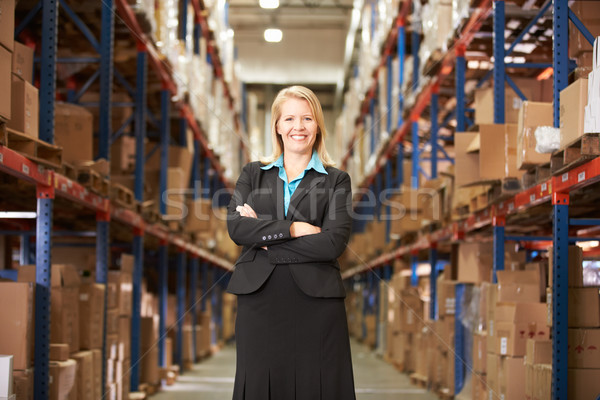 Portrait Of Female Manager In Warehouse Stock photo © monkey_business