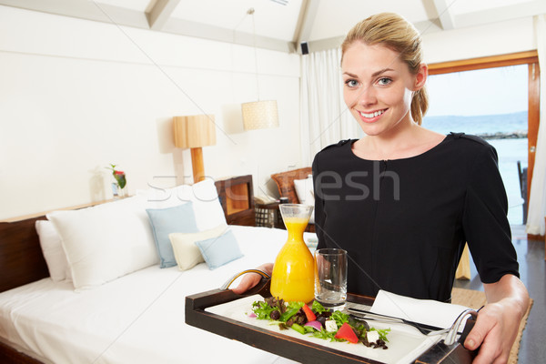 Portrait Of Hotel Worker Delivering Room Service Meal Stock photo © monkey_business