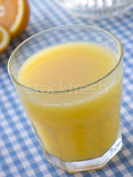 Glass Of Freshly Squeezed Orange Juice Stock photo © monkey_business