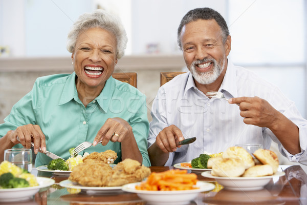 Couple Having Lunch Together At Home Stock photo © monkey_business