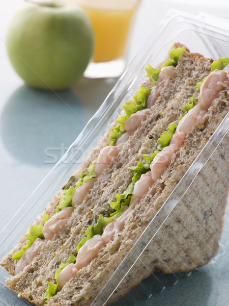 Prawn Marie Rose And Salad Sandwich On Granary Bread With An App Stock photo © monkey_business