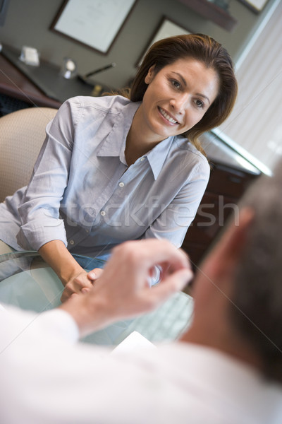 Woman in consultation at IVF clinic Stock photo © monkey_business