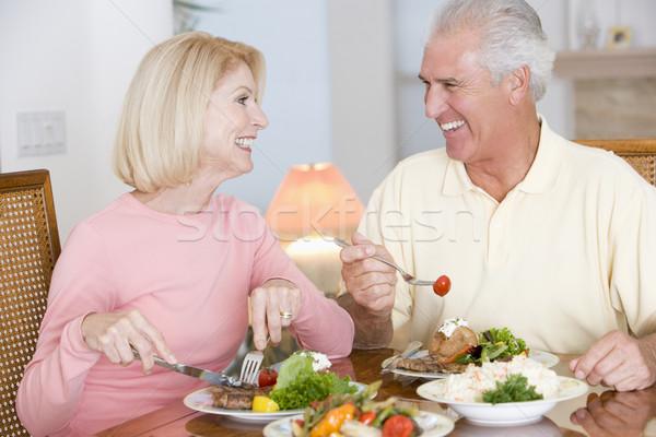 Сток-фото: пожилого · пару · здорового · вместе · продовольствие