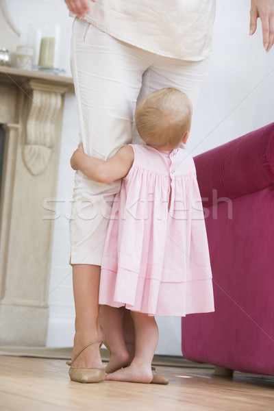 Mother in living room with baby Stock photo © monkey_business