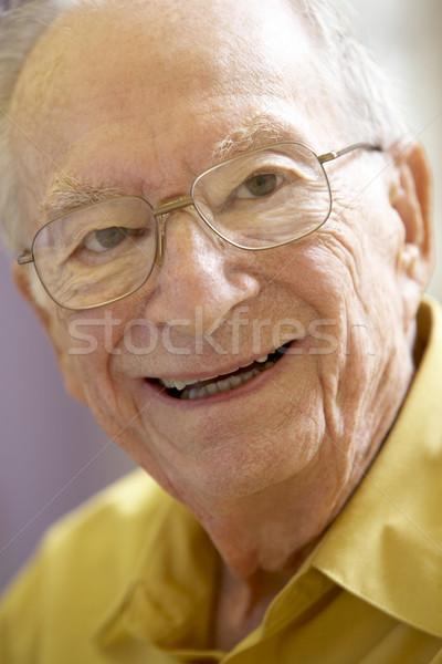 Bril portret ouderen persoon glimlachend senior Stockfoto © monkey_business