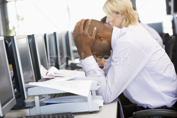 Stock Trader Looking Frustrated Stock photo © monkey_business