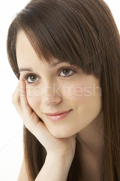 Studio portrait adolescente blanche femme couleur Photo stock © monkey_business
