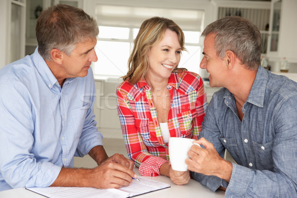 Couple conseiller financier maison hommes Finance Photo stock © monkey_business