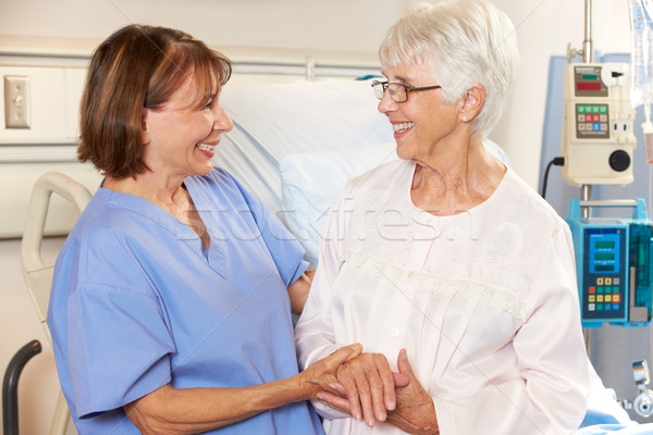 Nurse Talking To Senior Female Patient In Hospital Bed Stock photo © monkey_business