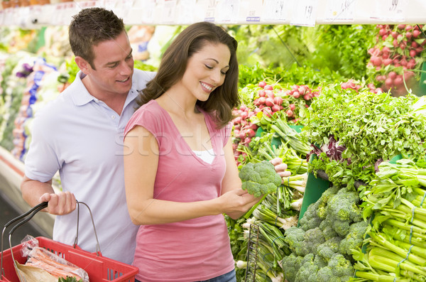 Pareja compras producir supermercado hombre Foto stock © monkey_business