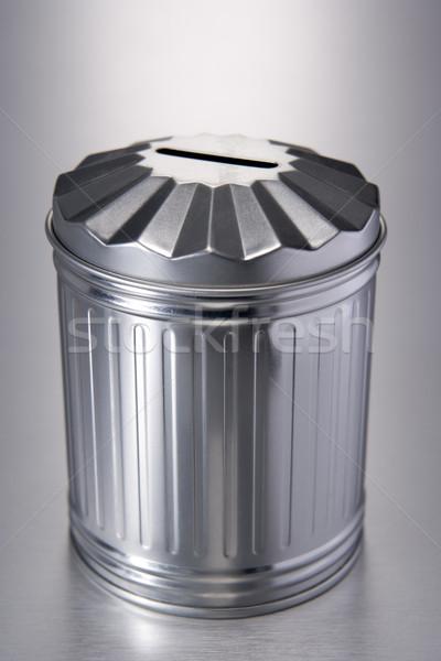 Estanho cesto de lixo metal lixo cor lata Foto stock © monkey_business