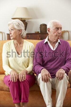 Couple de personnes âgées séance hôpital femme homme couple Photo stock © monkey_business