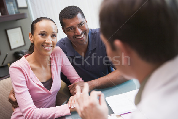 Couple in discussion with doctor in IVF clinic Stock photo © monkey_business