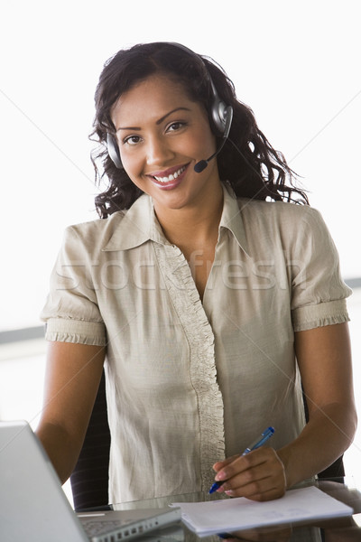 Female telesales worker Stock photo © monkey_business