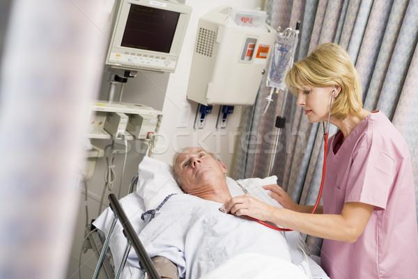 врач сердцебиение женщину человека медицина медсестры Сток-фото © monkey_business