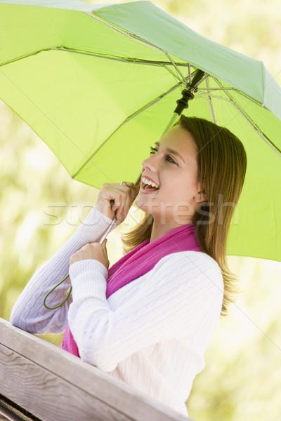 Retrato ao ar livre adolescente adolescente parque Foto stock © monkey_business