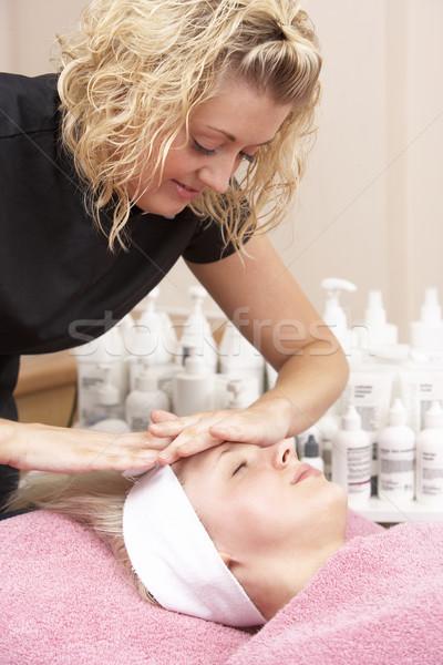 женщины массажистка клиент лице массаж портрет Сток-фото © monkey_business