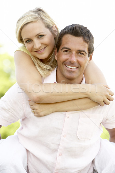 Campagne homme heureux couple Photo stock © monkey_business