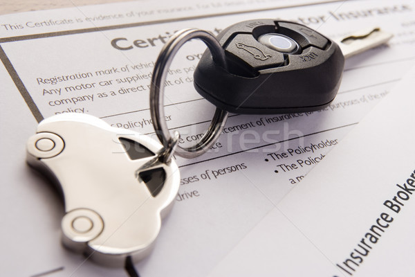 Car Keys On Insurance Documents Stock photo © monkey_business