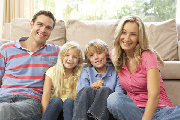 Stock photo: Family Relaxing At Home Together