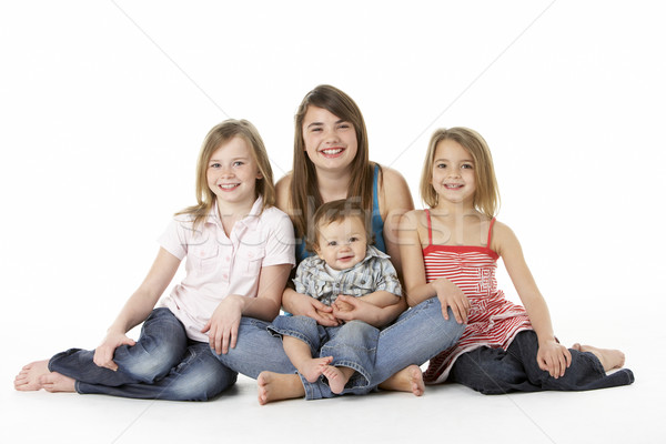 Group Of Children Together In Studio Stock photo © monkey_business
