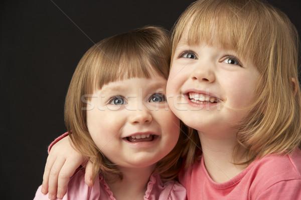 Stúdió portré kettő nővérek lány arc Stock fotó © monkey_business