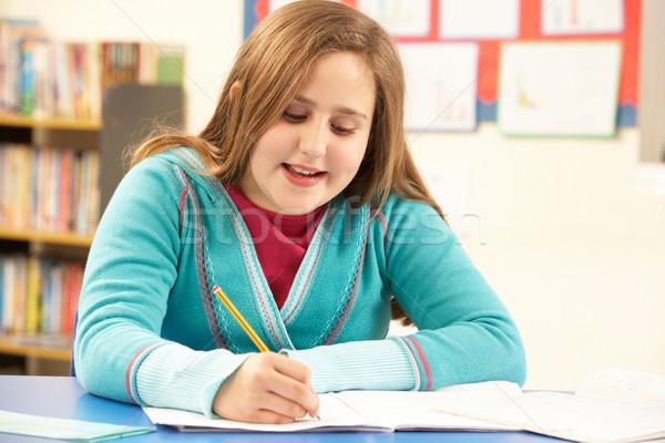 女学生 勉強 教室 少女 幸せ 学生 ストックフォト © monkey_business