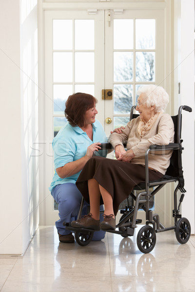 Carer With Disabled Senior Woman Sitting In Wheelchair Stock photo © monkey_business