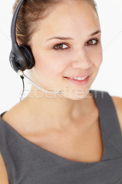 Young businesswoman wearing headset Stock photo © monkey_business