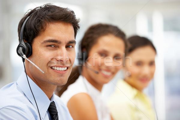 Businessman wearing headset Stock photo © monkey_business